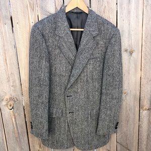 Harris Tweed | Vintage Herringbone Wool Blazer 40R